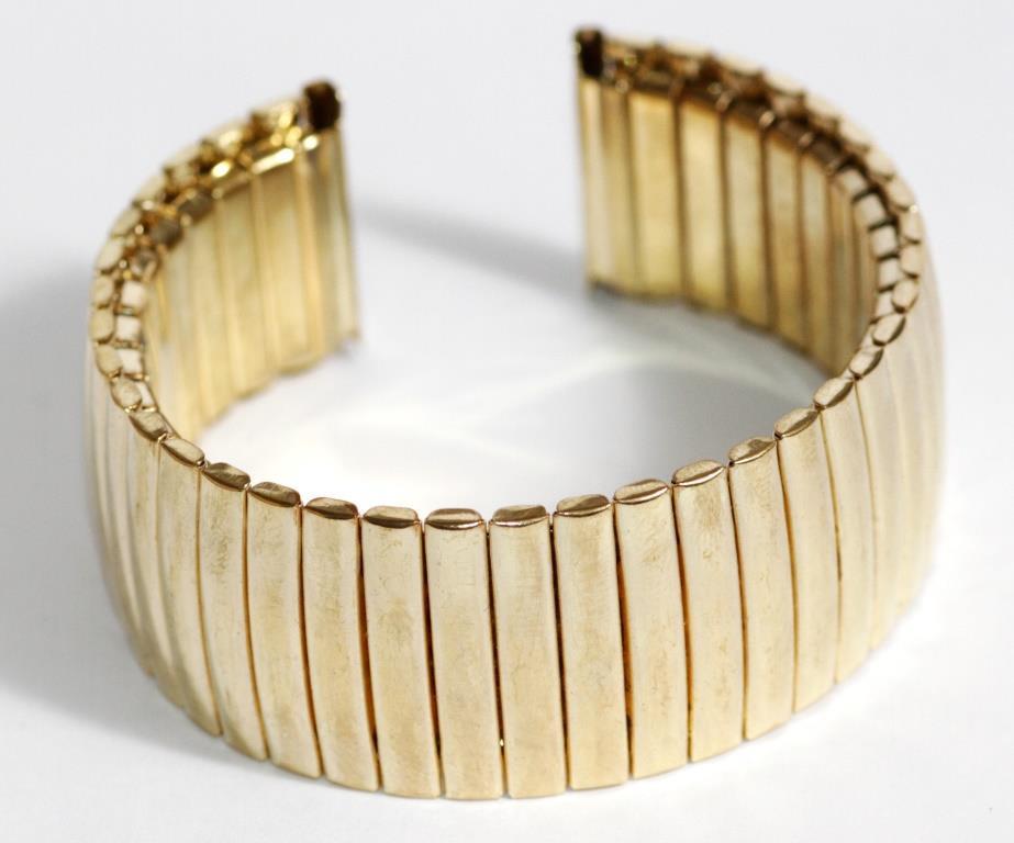 Браслет-резинка под золото 22 мм