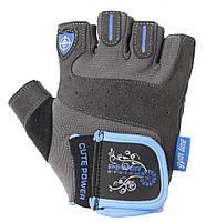 Перчатки для фитнеса и тяжелой атлетики Power System Cute Power PS-2560 женские L Blue, фото 1