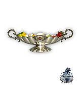 Антикварное старинное столовое серебро антикварная Серебряная ваза конфетница Антиквариат Украина Киев Одесса
