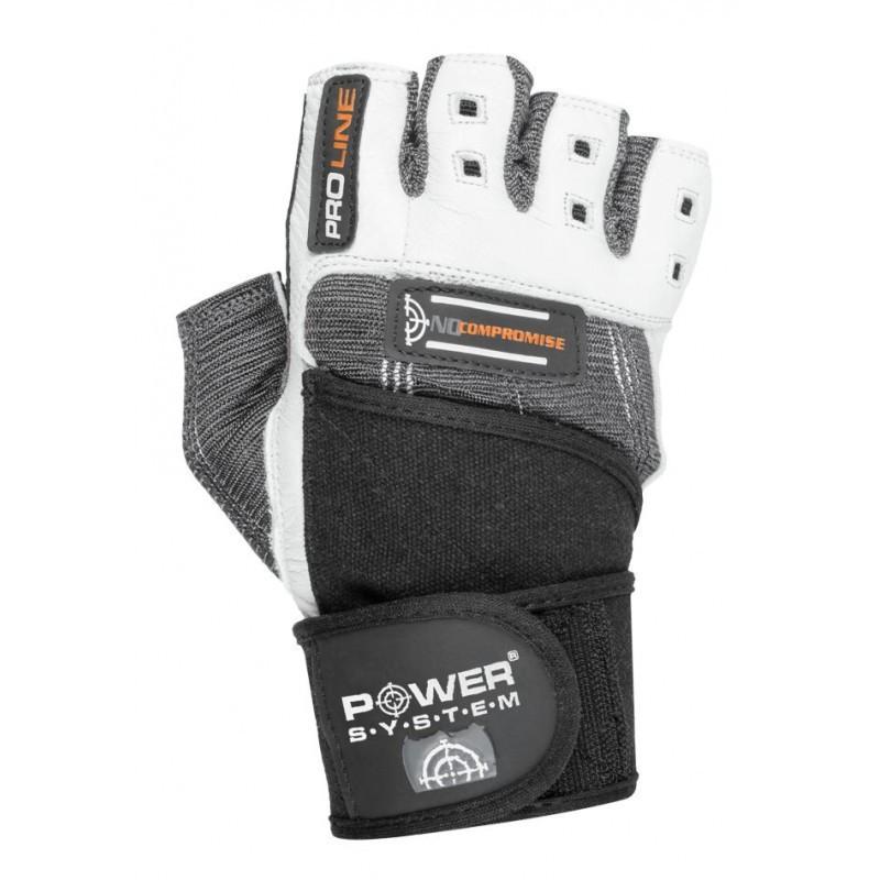 Перчатки для фитнеса и тяжелой атлетики Power System No Compromise PS-2700 XXL Grey/White