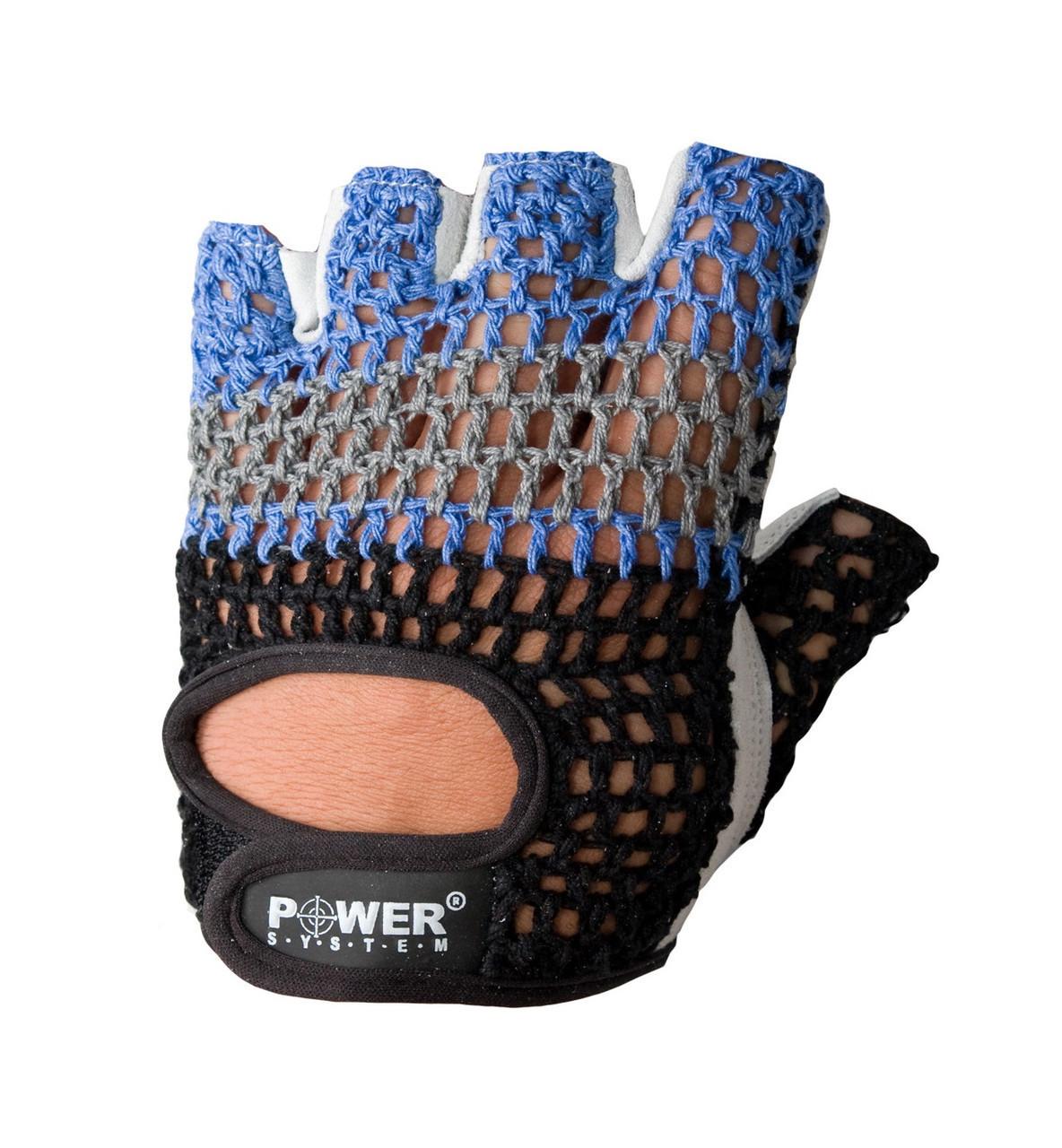 Перчатки для фитнеса и тяжелой атлетики Power System Basic PS-2100 S Blue