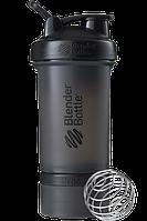 Шейкер спортивный BlenderBottle ProStak 650ml с 2-мя контейнерами Black (ORIGINAL), фото 1