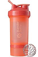 Шейкер спортивный BlenderBottle ProStak 650ml с 2-мя контейнерами Coral (ORIGINAL), фото 1