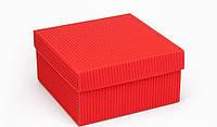"Коробочка ""Подарочная"" М0027-о34 красная, размер: 140*140*70 мм, фото 1"