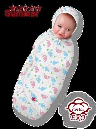"""Пеленка-кокон на липучке для новорожденного """"Дино"""" - Ontario Baby (DS3/Summer), фото 2"""