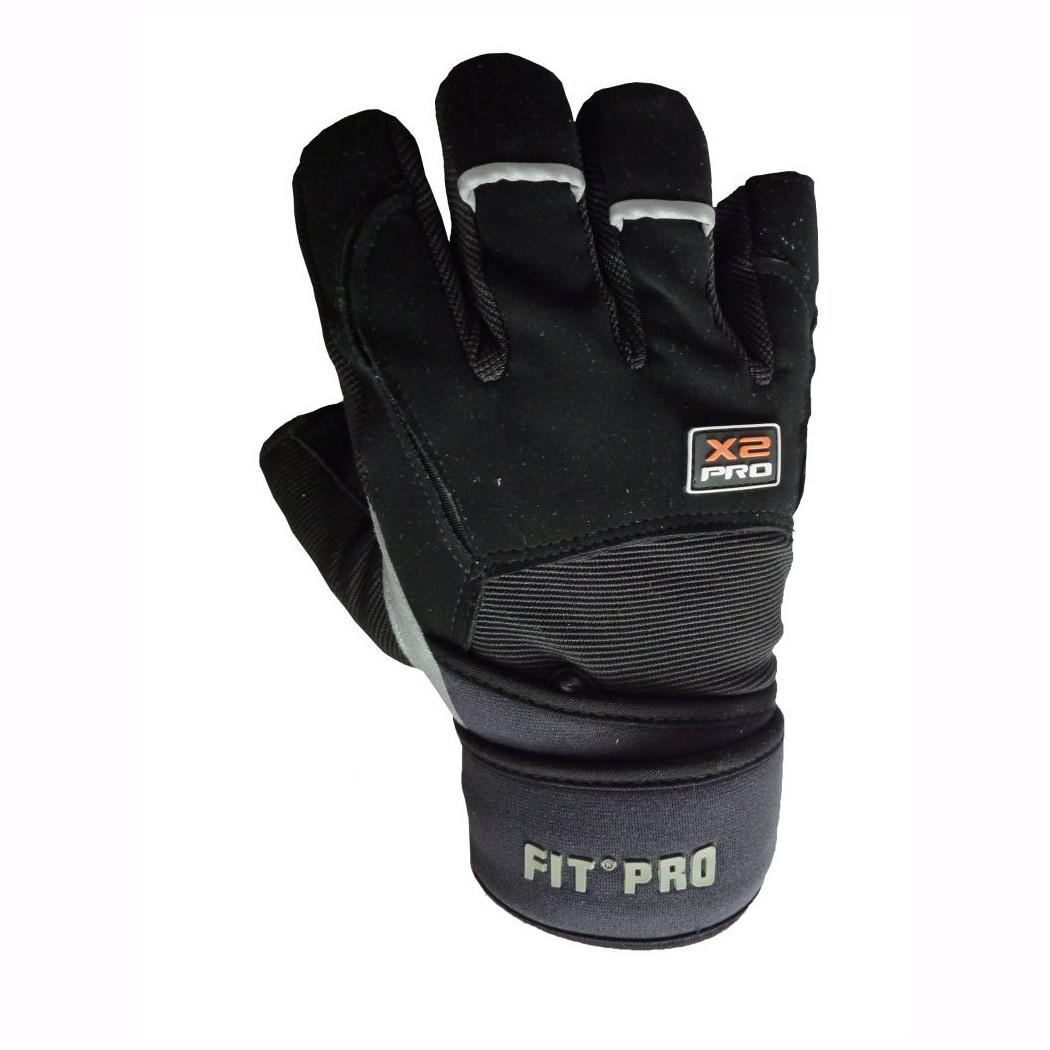 Перчатки для тяжелой атлетики Power System X2 Pro FP-02 Black S