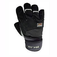 Перчатки для тяжелой атлетики Power System X2 Pro FP-02 Black S, фото 1