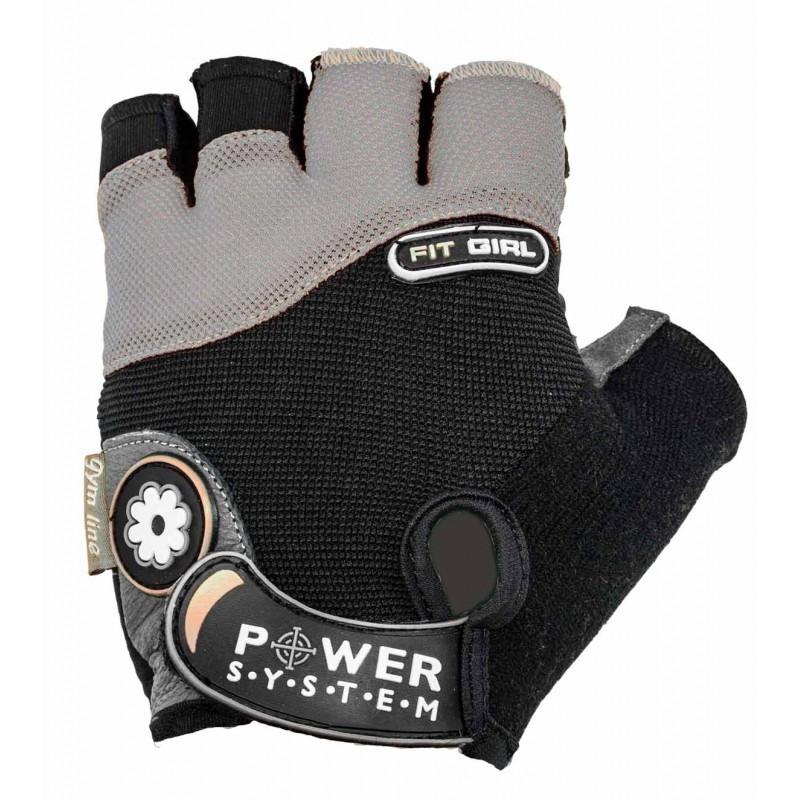 Перчатки для фитнеса и тяжелой атлетики Power System Fit Girl PS-2900 M Black