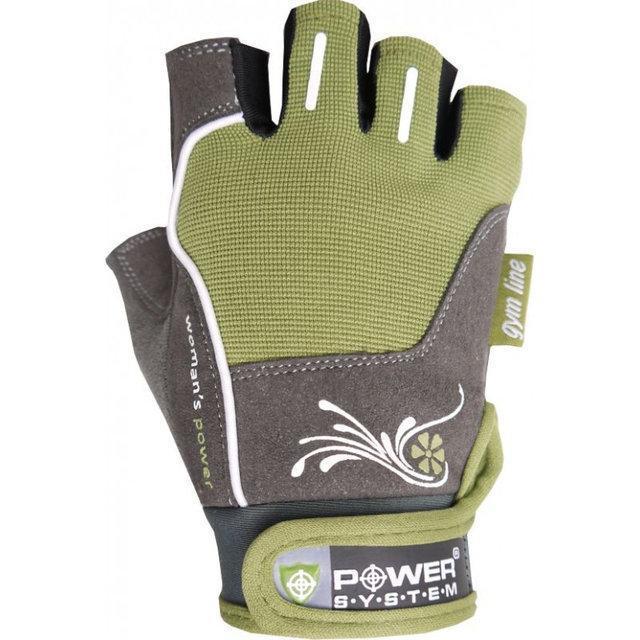 Перчатки для фитнеса и тяжелой атлетики Power System Woman's Power PS-2570 S Green