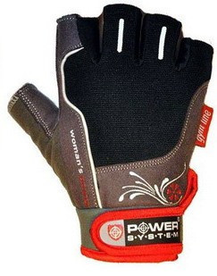 Перчатки для фитнеса и тяжелой атлетики Power System Woman's Power PS-2570 M Black/Red