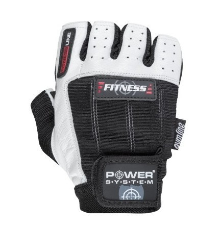 Перчатки для фитнеса и тяжелой атлетики Power System Fitness PS-2300 M Black/White