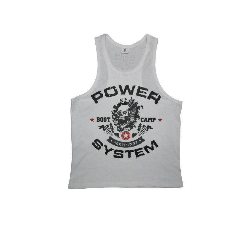 Майка для фитнеса и бодибилдинга Power System PS-8000 Boot Camp S White