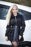 Куртка - ветровка черная, с капюшоном