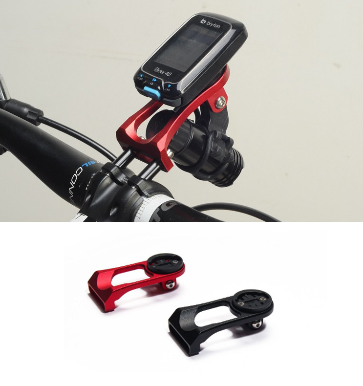 Крепление вело-компа или телефона (с доп наклейкой) на болты выноса + подвесная консоль для фонаря / GoPro
