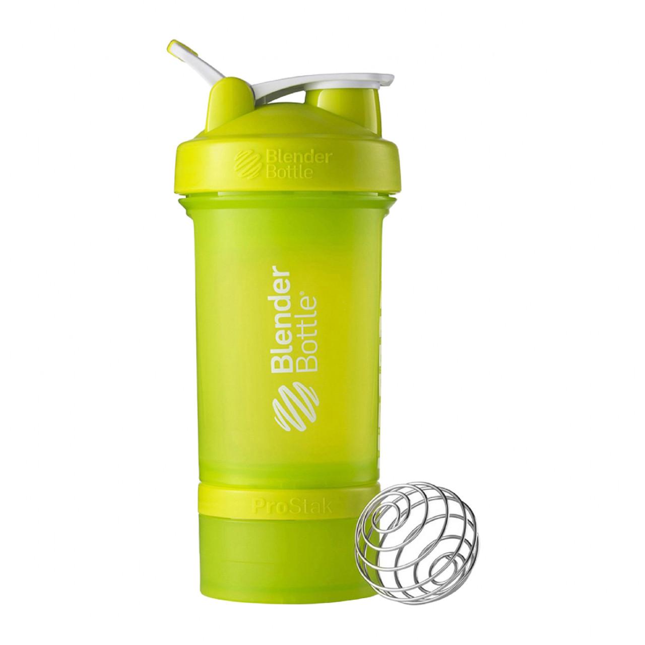 Шейкер спортивный BlenderBottle ProStak с шариком 650 мл зеленый