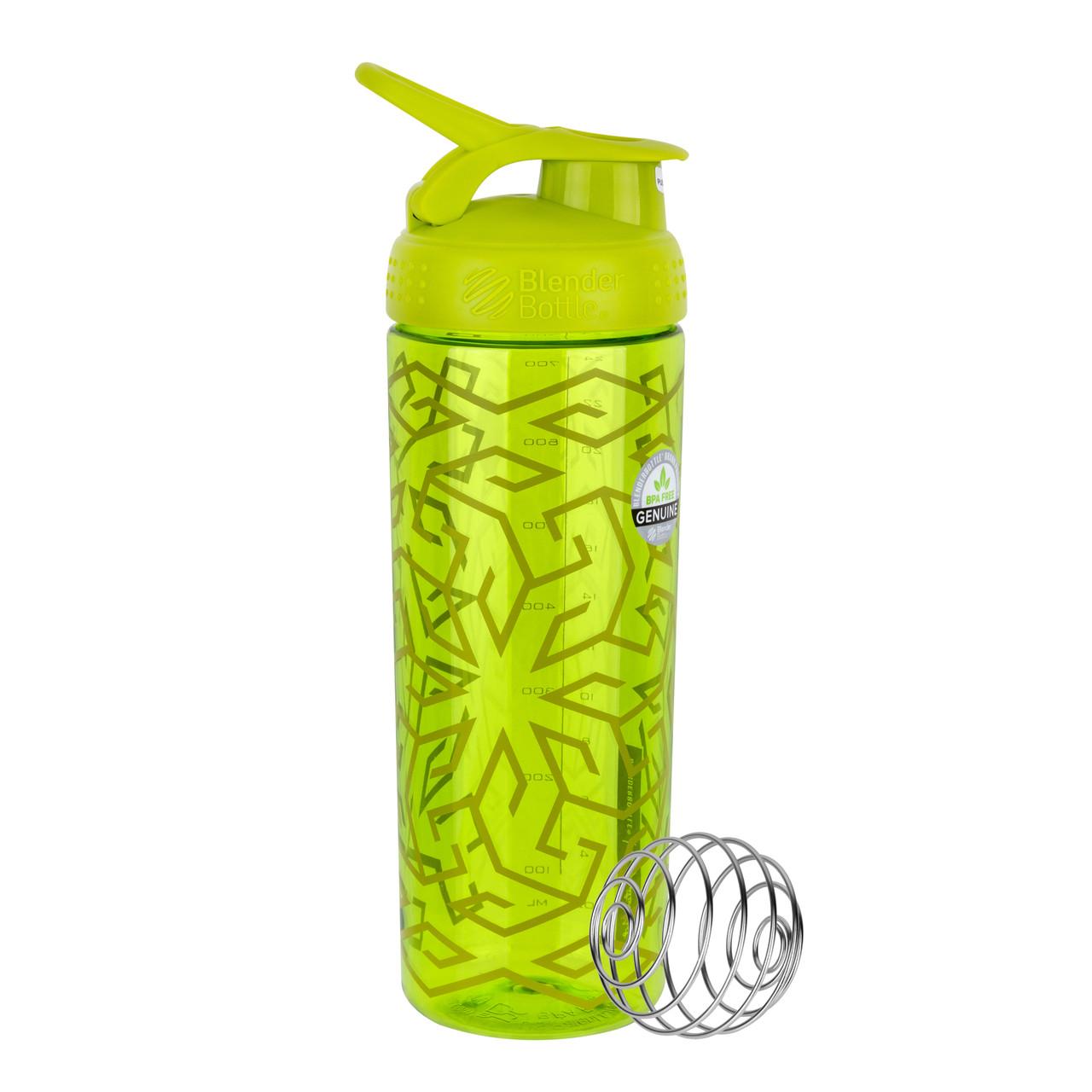 Спортивная бутылка-шейкер BlenderBottle SportMixer Signature Sleek GREEN ZEN GALA 820мл (ORIGINAL)