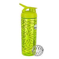 Спортивная бутылка-шейкер BlenderBottle SportMixer Signature Sleek GREEN ZEN GALA 820мл (ORIGINAL), фото 1