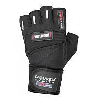 Перчатки для фитнеса и тяжелой атлетики Power System Power Grip PS-2800 XL Black, фото 1
