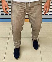 Мужские летние брюки Loro Piana H0693 бежевые