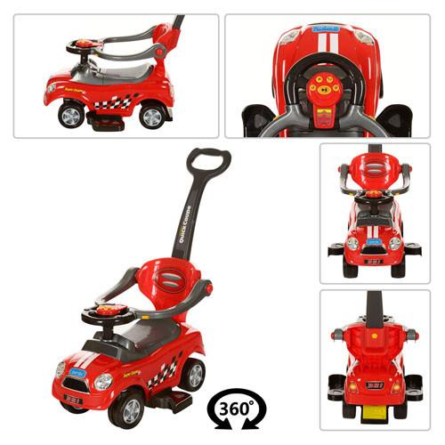 Детская машинка каталка толокар Bambi Z 321-3, красный
