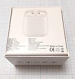 Беспроводные наушники-гарнитура i9S-TWS с PowerBank и чехлом, белый, фото 2