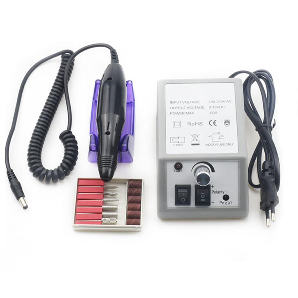 Фрезер для маникюра, педикюра, наращивания 20 000 об/мин с набором насадок / фрез и блоком питания