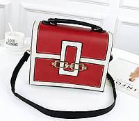Сумки через плечо женские брендовые Кайли квадратной формы экокожа кроссбоди красная