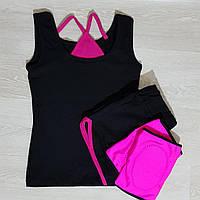 Комплект спортивный для гимнастики и акробатики: шорты+майка+наколенники