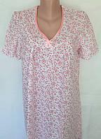 Ночная рубашка с рукавом большого размера 64 размер, фото 1