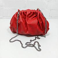 Сумка жіноча, червоний, шкіра Арт.0144835 Emanuela Feretti Італія (Сумка-саквояж красная средняя кожанная)