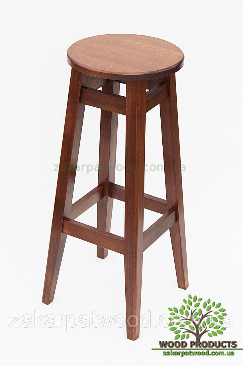 Барний стілець круглий бук (80*31*31см)