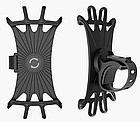 """Тримач телефону на кермо вело/мото/коляски силікон + ABS-пластик ПОВОРОТНИЙ 360 (від 4.5 ДО 6.5"""" / 165 мм), фото 3"""