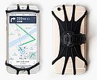 """Тримач телефону на кермо вело/мото/коляски силікон + ABS-пластик ПОВОРОТНИЙ 360 (від 4.5 ДО 6.5"""" / 165 мм), фото 2"""