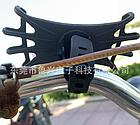 """Тримач телефону на кермо вело/мото/коляски силікон + ABS-пластик ПОВОРОТНИЙ 360 (від 4.5 ДО 6.5"""" / 165 мм), фото 6"""