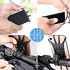 """Тримач телефону на кермо вело/мото/коляски силікон + ABS-пластик ПОВОРОТНИЙ 360 (від 4.5 ДО 6.5"""" / 165 мм), фото 5"""