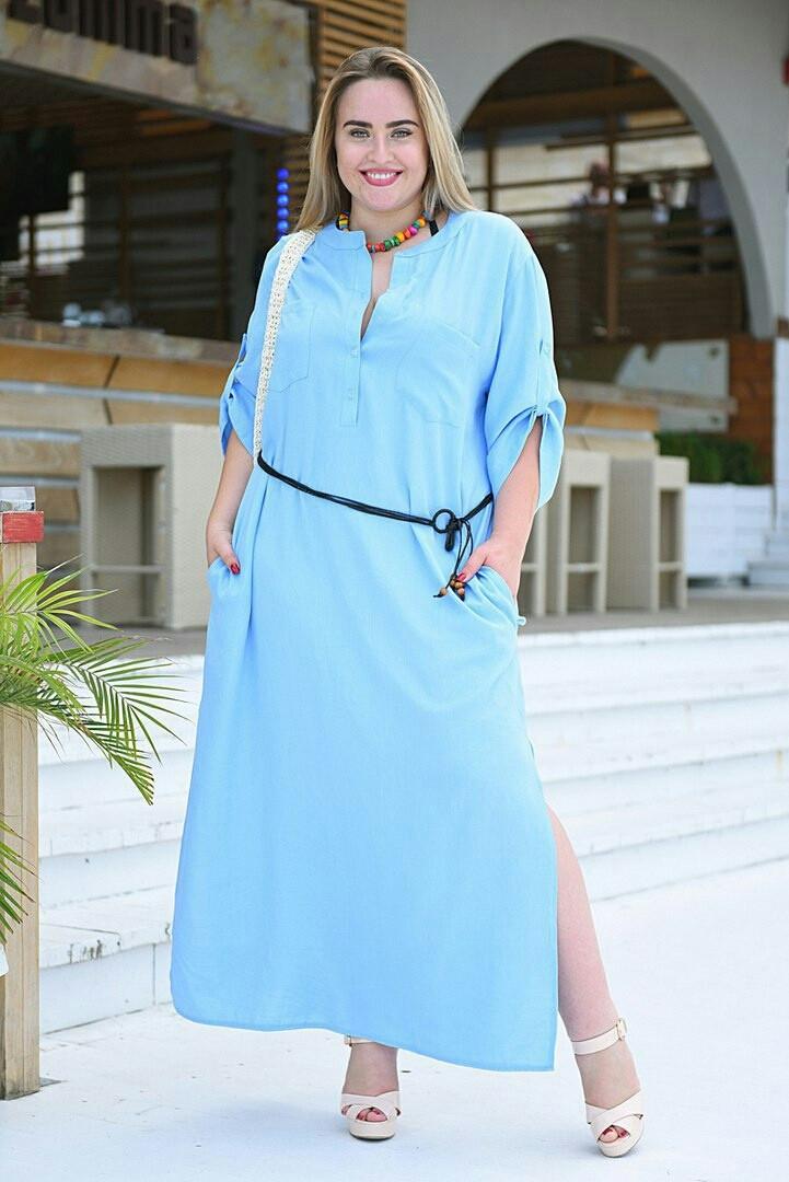 Женское платье свободного кроя на лето большие размеры