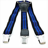 Подтяжки Weatro 0016PI Чёрно-синие