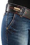 Джинсы женские Tory Burch 6515 клёш от колена синие, фото 8