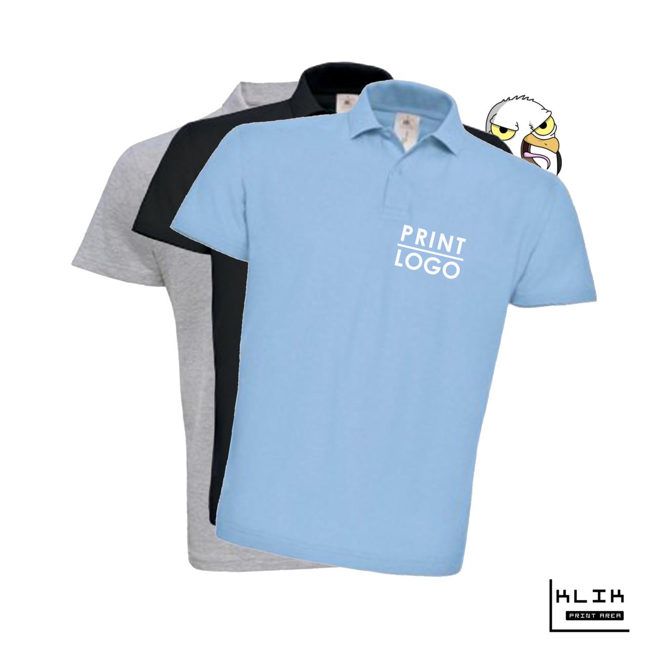 Печать на футболке Polo мужской (принт размером А5)