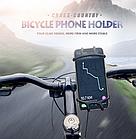 """Тримач телефону на кермо вело/мото/коляски силікон + ABS-пластик НЕПОВОРОТНИЙ (від 4.5 до 6.5"""" / 165 мм), фото 9"""