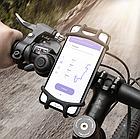 """Тримач телефону на кермо вело/мото/коляски силікон + ABS-пластик НЕПОВОРОТНИЙ (від 4.5 до 6.5"""" / 165 мм), фото 2"""