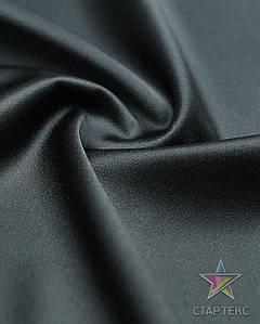 Ткань Атлас тонкий Черный