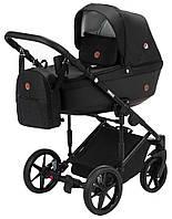Универсальная коляска 2 в 1 Adamex Amelia (черный цвет)