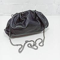 Сумка жіноча, чорний, шкіра Арт.0144835 Emanuela Feretti Італія (Сумка-саквояж черная средняя кожанная)