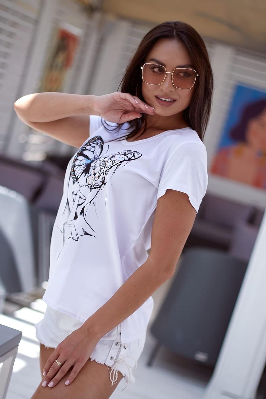 Женская футболка с узором 48-62