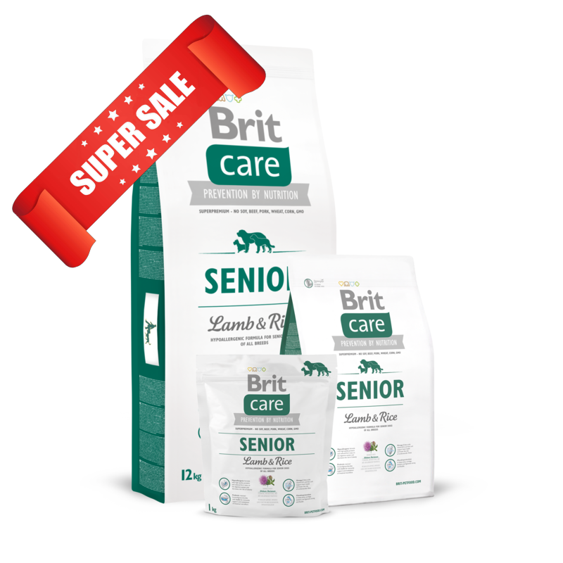 Сухой корм для собак Brit Care Senior Lamb & Rice 12 кг