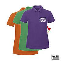 Печать на футболке Polo женской (принт размером А5)