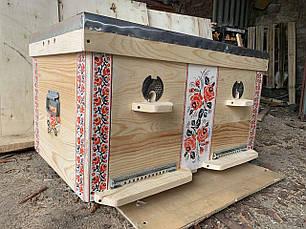 Улей лежак 24 рамки в этно-стиле, фото 3