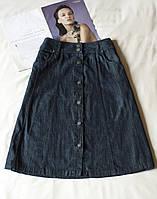 Темно серая джинсовая юбка женская maine new england, размер l
