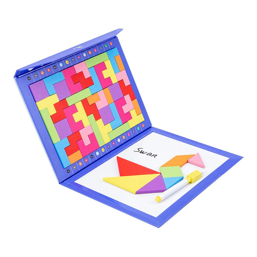 Іграшка головоломка 3в1 Танграм-тетріс-дошка для малювання